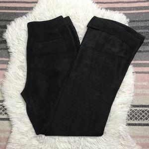 Nellie Partow Trousers Wide Leg Black Linen Silk 6